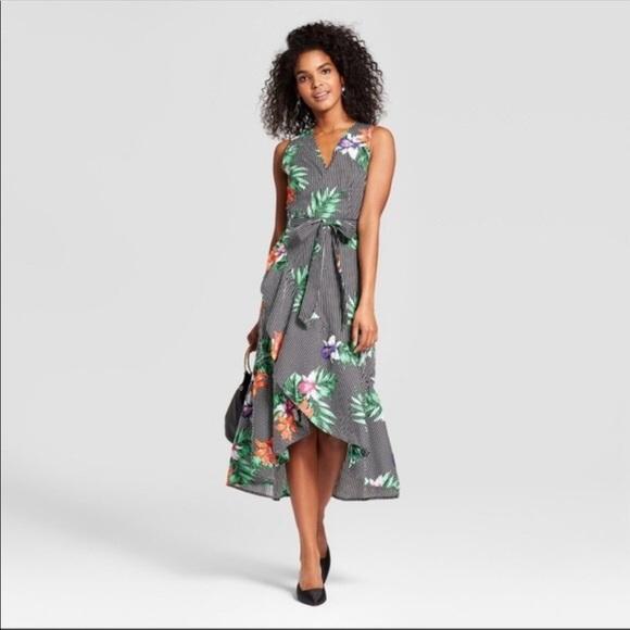 6dc9a9fccf96 Who What Wear Dresses | Floral Midi Wrap Dress | Poshmark